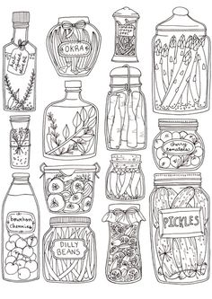 Pickles Print Art Print, by by Brooke Weeber on Society6  -- I bought this tea towel for my cousin for xmas, I kind of want to buy the print so I can color it in... hehe