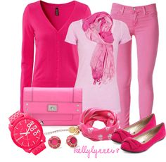 """""""Pretty In Pink"""" by kellylynne68 ❤ liked on Polyvore"""