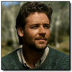 """Russell Crowe in """"Silver Brumby"""" - nice sweater btw! Gladiator Movie, Celebrity Mugshots, Russell Crowe, You Are Cute, We Are Young, Mug Shots, Handsome Boys, Character Inspiration, Movie Stars"""