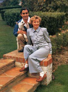 "mattybing1025: ""Tyrone Power and Annabella at home. """