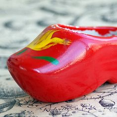 TINY vintage Dutch ceramic red Shoe... from an by CoolVintage, $9.50
