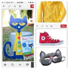 Pete the cat costume Cat Costumes, Costume Ideas, Halloween Costumes, Pete The Cat Costume, 9th Birthday Parties, Halloween Dress, Fun Ideas, Crafts For Kids, Creativity