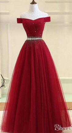 Burgundy tulle off shoulder long prom dress, burgundy evening dress, Customized . - Burgundy tulle off shoulder long prom dress, burgundy evening dress, Customized service and Rush order are available # Source by - Pretty Prom Dresses, Cute Prom Dresses, Dance Dresses, Ball Dresses, Beautiful Dresses, Ball Gowns, Long Dresses, Dress Long, Dresses For Balls