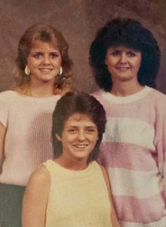 1985-ish. Robin (15) and Misty (13), and Nita Linduff (38).