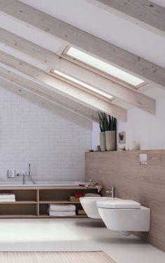 Open loft Geberit bathroom design.