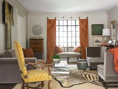 Living Room // Carter Kay Interiors // Atlanta, GA // zebra