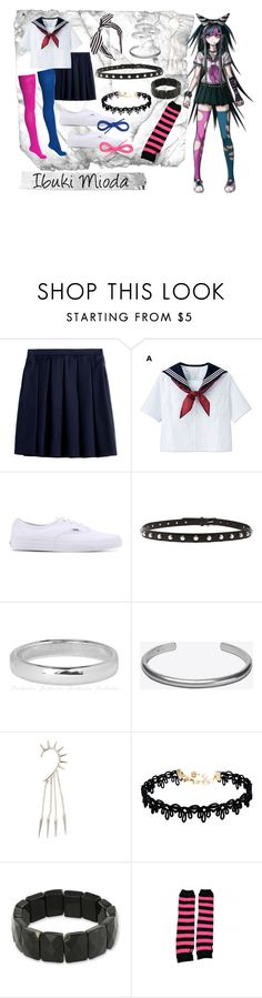 """Ibuki Mioda"" by cindyhua000 on Polyvore featuring Burberry, American Apparel, Vans, Maison Margiela, Vanessa Mooney, NOVICA, anime, DanganRonpa, ibukimioda and ibuki"