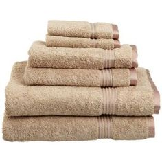 6-Piece Egyptian Cotton Towel Set in Taupe