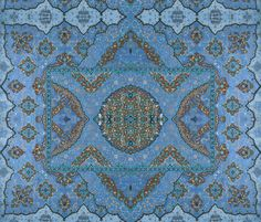 Persian Dream ~ Peacock   ~ by PeacoquetteDesigns on Spoonflower ~ bespoke fabric, wallpaper, wall decals & gift wrap ~ Join PD  ~ https://www.Peacoquette.com  #Spoonflower #Peacoquette