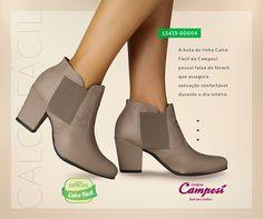 Para enfrentar o frio com muito conforto, invista em uma bota da linha Calce Fácil da Campesí! Ela possui uma faixa de Stretch que assegura a sensação de bem-estar durante o dia todo!