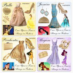 Disney Princess Fashion 2 Belle, Jasmine, Pocahontas, and Megara