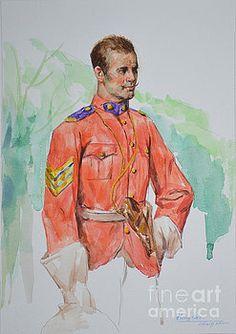 Hongtao     Huang - original drawing portrait of general man people art on paper -0058