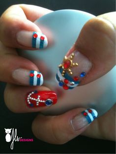 http://jlvdesigns.wordpress.com/I would like all red nails with the anchor turned around on the ring finger only