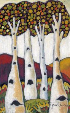 Four of a Kind by Jane Chukas #tree #art