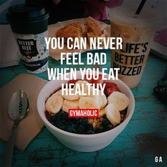 Gym Motivation. But will definitely feel bad when you eat poorly