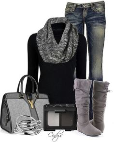 Love this and especially love the boots!  Now if it would only get cold enough...
