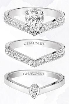 「ジョゼフィーヌ エグレット」上から:エンゲージメントリング(PT×ダイヤモンド1.0ct〜)¥1,809,000〜、マリッジリング(PT×ダイヤモンド)¥350,000、マリッジリング(PT×ダイヤモンド)¥245,000