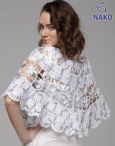 Lovely White Cape free crochet graph pattern