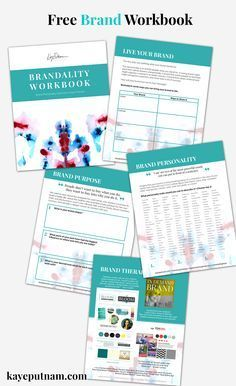 Attract your idea clients to your brand. Free brand strategy workbook for entrepreneurs, startups, and small business. brand strategy / branding strategy / brand help / business ideas / printable