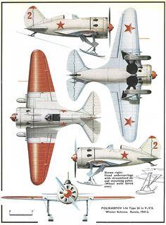 Polikarpov I16 - Livrea invernale, Russia 1941-1942