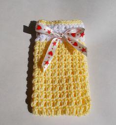 marianna's lazy daisy days: Easy Crochet Gift Bags with Chocolates Inside