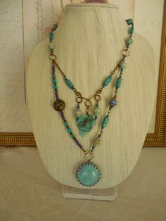 Bohemian Rhapsody in Purple and Turquoise 34 by NewCroneCraftworks
