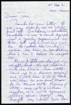letter to a friend from a gulf war soldier 1991