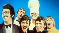 64: Monty Python's Flying Circus. Eric Idle, Graham Chapman, Michael Palin, John Cleese, Terry Jones, and Terry Gilliam. Cult Comedy 101.