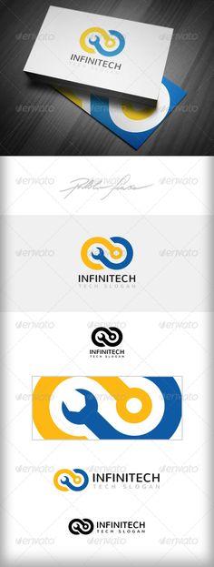 Infinity Computer Tech Support - Logo Design Template Vector #logotype Download it here: http://graphicriver.net/item/infinity-logo-computer-tech-support-logo/4908867?s_rank=217?ref=nexion