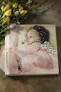 Pink Angel Baby Photo Album 7x7 – Celebrate Faith