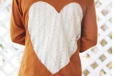 Lace Heart Cardigan | DIY