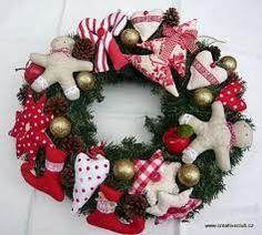 Výsledek obrázku pro šité vánoční ozdoby šablony Christmas Wreaths, Holiday Decor, Advent, Home Decor, Decoration Home, Room Decor, Advent Wreaths, Interior Decorating