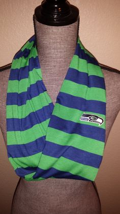 Seahawks Infinity Scarf Soft Jersey by ItsPeachyKeen on Etsy