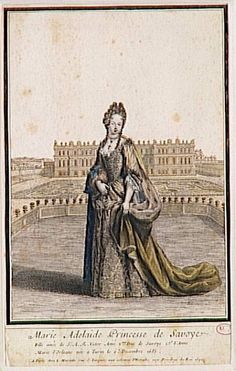 1697 Marie-Adelaide de Savoie (1683-1712), duchesse de Bourgogne, dauphine de France by French school (Versailles) | Grand Ladies | gogm