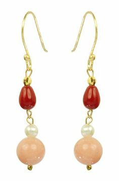 Dyed Coral and White Freshwater Cultured Pearl « Holiday Adds