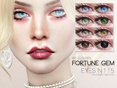The Sims 4 by Kasia: Oczy Fortune od Pralinesims Sims 4 Cc Eyes, Sims 4 Cc Skin, Sims 4 Cas, Sims Cc, Sims 4 Cc Makeup, Sims 4 Cc Packs, The Sims 4 Download, Sims 4 Cc Finds, Sims Resource