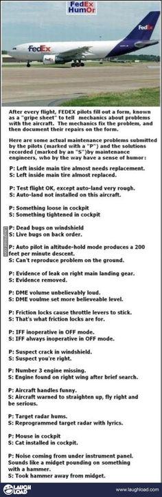 Fedex pilot checklist