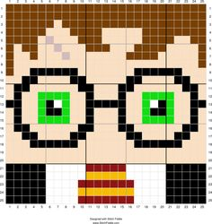 Stitch Fiddle is an online crochet, knitting and cross stitch pattern maker. Colchas Harry Potter, Harry Potter Crochet, Harry Potter Quilt, 8 Bit Crochet, Crochet C2c, Pixel Crochet, Crochet Pattern, Harry Potter Cross Stitch Pattern, Cross Stitch Pattern Maker