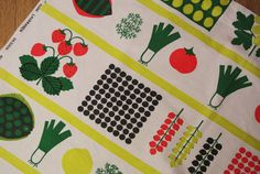 Rare Swedish retro vintage printed cotton almedahls design fabric curtain or tabelcloth with summerdinner motives Kitchen Chair Cushions, Kitchen Chairs, Textile Design, Fabric Design, Scandinavian Pattern, Curtain Fabric, Retro Vintage, Printed Cotton, Printing On Fabric