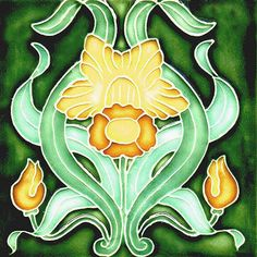 Art Nouveau decorative Ceramic tile by Imagesdesign on Etsy https://www.etsy.com/listing/253708183/art-nouveau-decorative-ceramic-tile