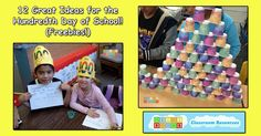 12 Great Ideas for the Hundredth Day of School! 100 Day Celebration, Hundred Days, The Hundreds, 100 Days Of School, 100th Day, The 100, Classroom, Songs, Activities