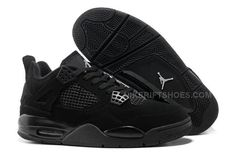"hot sales 10f01 9456d Air Jordan 4 Retro ""Black Cats"" All Black Light Graphite. Nike Shoes For  SaleCheap ..."