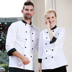 Classic double breasted unisex chef jackets 8104C15C16
