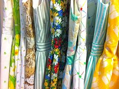 sheet dresses- I'm wanting to sew this summer. What a great way to find fair, eco-friendly fabric: sheets at the thrift store! this blog is super cute and she sells these dresses on it.
