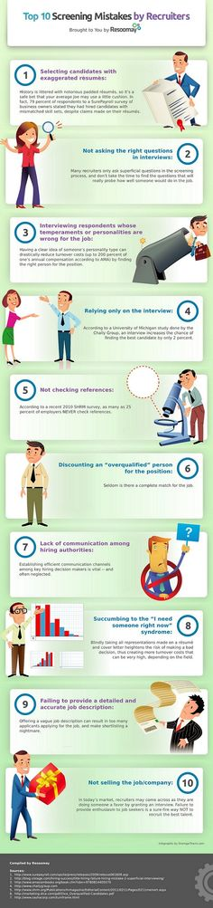 This infographic about mistakes that recruiters make when screening candidates was contributed by Resoomay. Resoomay is a new cloud based, SaaS tool f