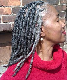 Gray locks: Hair by Natural Hairstylist, Shante' Fagans of Detroit Michigan. @shantefagans Instagram