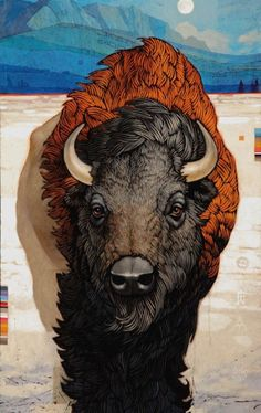 Buffalo Painting by Craig Kosak