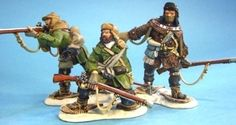 French & Indian War SRR02 Rogers Rangers Skirmishing - Made by John Jenkins Designs Military Miniatures and Models. Factory made, hand assembled, painted and boxed in a padded decorative box. Excellent gift for the enthusiast.