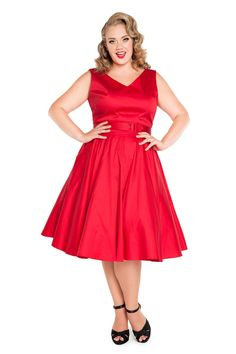 Pinup Couture Havana Nights Dress in Red