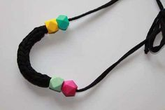Crochet Necklace Handmade Necklace Nursing by EndlessknotByAgnes